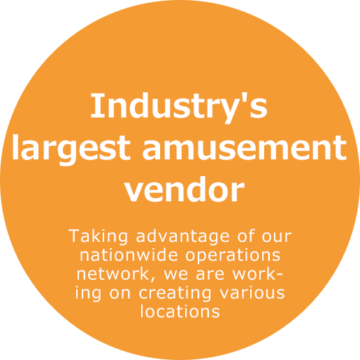 Industry's largest amusement vendor Taking advantage of our nationwide operations network, we are working on creating various locations